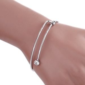 COMING SOON!! Crystal Silver Bangle Cuff Bracelet